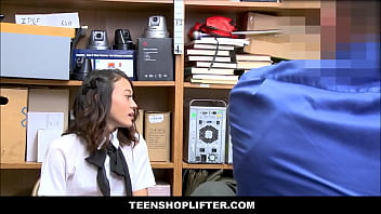 Cute And Tiny Asian Teen Jasmine Grey Caught Stealing And Fucked By Lonely Security Guard 8 min