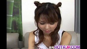 Young stunner Akira Shiratori screams hard as pussy and ass get toyed - More at hotajp com