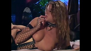 Black boot vintage Sex in a corset black boots and fishnet stockings