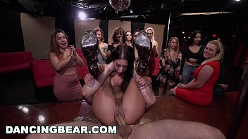 Female and male sex organs - Dancing bear - shy girls go wild for male stripper dick
