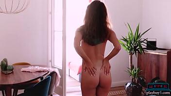 Petite Russian MILF Beauty Nicole Winter Solo Striptease For Playboy