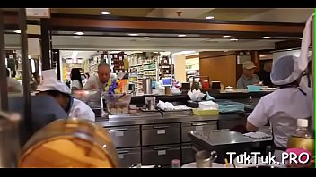 Experienced thai slut gives a cook jerking and some oral job
