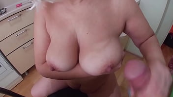 Big ass anal sex and blowjob in the kitchen
