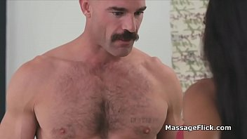 Ebony masseuse milking clients cock in the shower