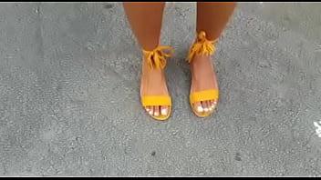 Ebony Feet Goddess drops panties thumbnail