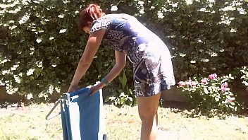 xxx suny leon com - Your beautiful mom shows off her diaper in a public garden full of piss thumbnail