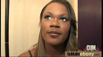Hot ebony chick love gangbang interracial 9