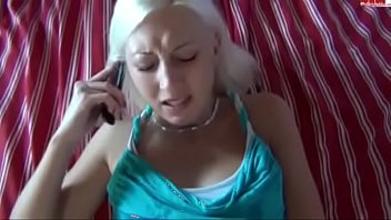 Sex on the trube - Pov german babe fucks you while shes talks on the phone