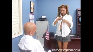 Sexy Asian exchange student blows her teacher to stay in the country