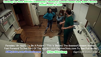$CLOV Doctor Tampa strip searches sisters Alexa Rydell and Maria Santos head to toe in front of each other @Doctor-Tampa.com