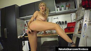 Smoking Hot Natalia Starr Bangs Her Bush In Garage With Tool