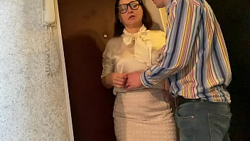 The teacher came to the student and got a dick in his mouth (Alina Tumanova)