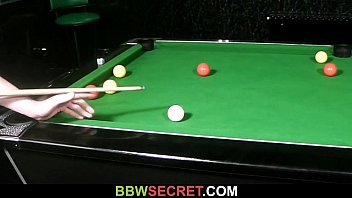His GF leaves and he fucks BBW on the pool table 6 min