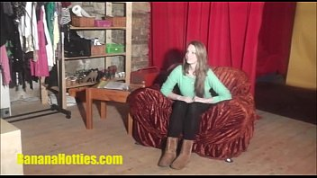 Shy hottie at her first CASTING ever 15 min