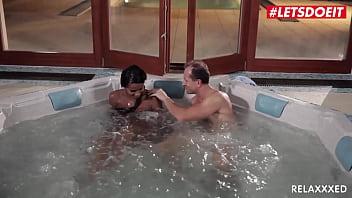 LETSDOEIT - #Isabella Christin #George Uhl - Hot Tub Sex With A Delicious Ebony Czech Teen