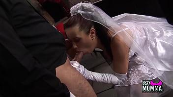 Horny bride gets a hard fuck 24 min