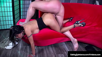 Hubby Gives Wet Big Boobed Mexican MILF Gabby Quinteros What She Wants