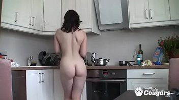 Young Amateur Cooks Dinner Totally Naked