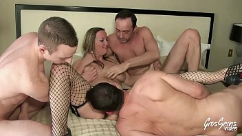 She gets fucked hard in double penetration