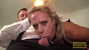 Cum eating UK skank anally destroyed by rough sex 9 min