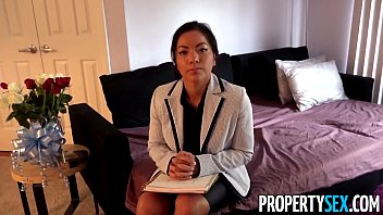 PropertySex - Thieving Asian real estate agent fucks client to avoid jail time