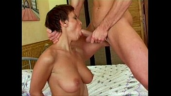Uneven facial hair Short hair milf awesome blowjob