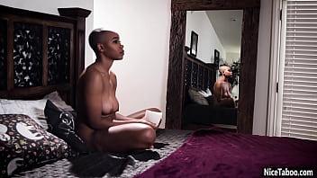 Sexy black teen Jenna Foxx seduced by hot MILF Katrina Jade and she got fucked