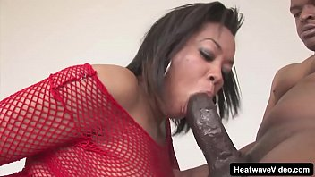 Perfect black woman beams with pride as she blowjob a big black cock