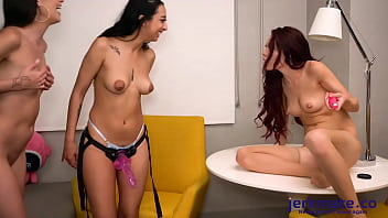 Sabina Rouge Is Getting Nailed with a Strap On By Natalia Nix And Kiarra Kai On Jerkmate TV 5 min