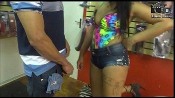 sexy black woman decides to attack the big seller stick. Rubens Badaro
