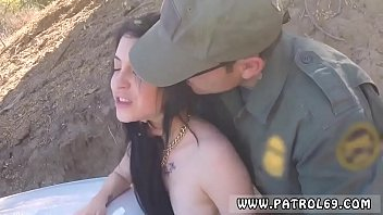 Uniform police and prisoners first time Russian Amateur Takes it Like