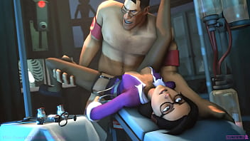 Miss Pauling x Medic - Team Fortress 2 (with sound) 9秒