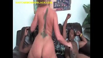 blonde Mom Enjoys Three Black Cocks