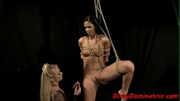 Euro slave dyke tormented by dominatrix
