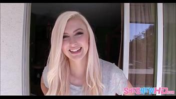 Blonde Teen Alexa Grace First Porn