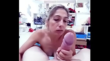 Impressive giant cock! Will it all fit in Angeles Ariana's mouth? because in her ass we already know that it does.
