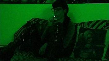 Beth Kinky - Sexy goth domina smoking in green light pt2 HD