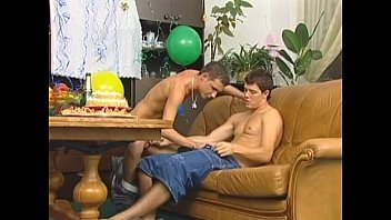 Twink fuck party in living room