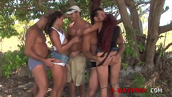 3-Way Porn - Public Group Sex with Anal Action thumbnail