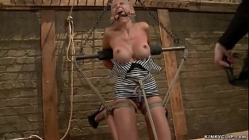 Busty Babe Gets Vibrated In Suspension