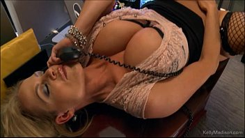 Big mature secretary tit Busty kelly madison has hot phone sex in her office