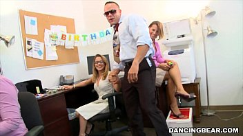 CFNM Office Party Cock Blowout with Big Dick Male Strippers (db9442) 5 min