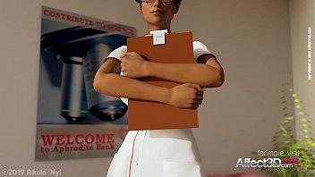 Ebony Nurse Helping Her Futanari Patient In A Cool 3D Animation