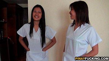 Atouba phil sister sex blowjob - Asian nurses share a white dick