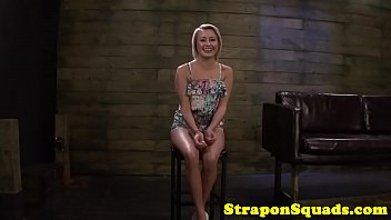 Lezdom Dominates Babe With Strapon