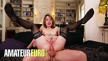 LA NOVICE - Sophie Ocelot & Rick Angel - FRENCH TEEN TRIES ANAL WITH HORNY OLD MAN