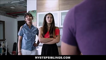 Two Hot Teen Latina Step Sisters Kitty Carrera and Sofie Reyez Threesome With Horny Step Brother