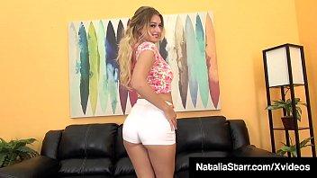 Panty Sniffing Slut Natalia Starr Dildo Bangs In High Heels