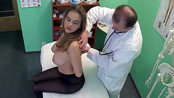 Fake Doctor Fucks her Milf Patient with HUGE Tits