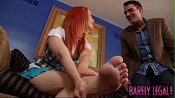 Bare teen soles Redhead teen dani jensen has cumshot over feet after plow